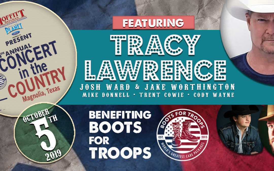 Tracy Lawrence to perform for Boots For Troops